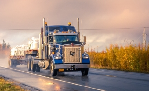 shipping land freight by semi truck