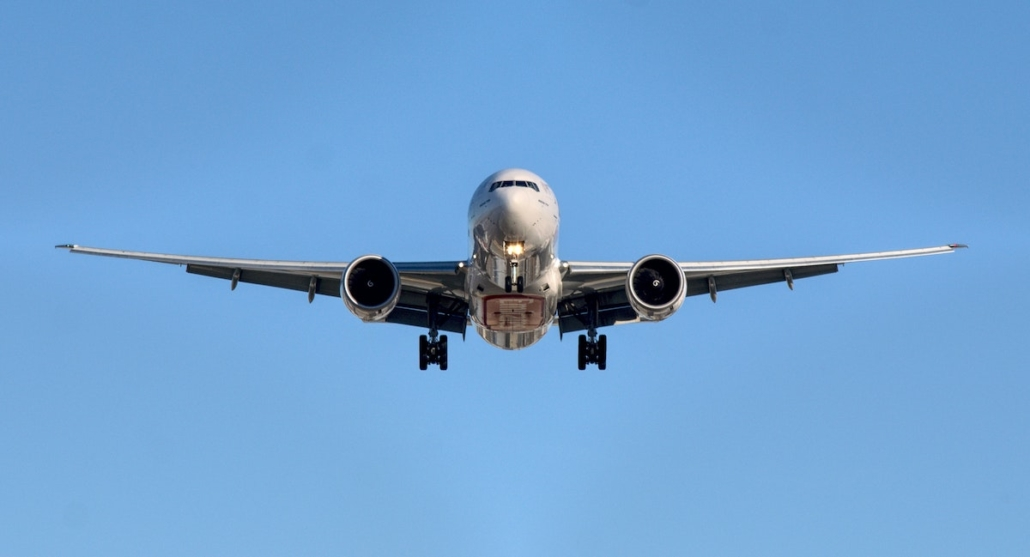 photo of plane with air freight landing